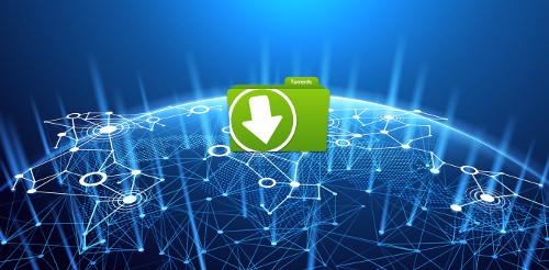 Logo d'un potentiel tracker torrent sur une blockchain