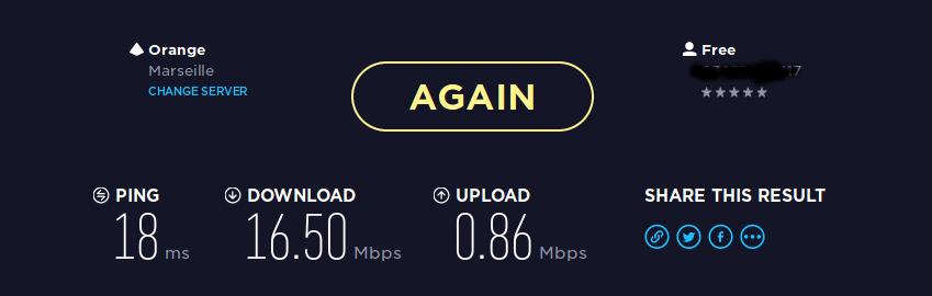 Speedtest de ma connexion