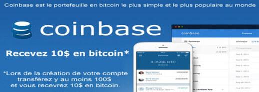 Bannière de Coinbase
