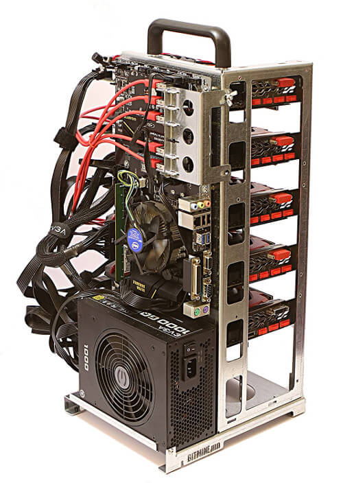 Mining RIG-V6 Coque Rig Open Air