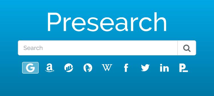 Moteur de recherche Presearch